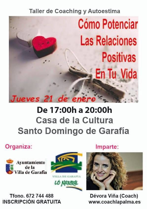 Taller de coaching y autoestima (enero 2021) - Garafía (Santa Cruz de Tenerife)