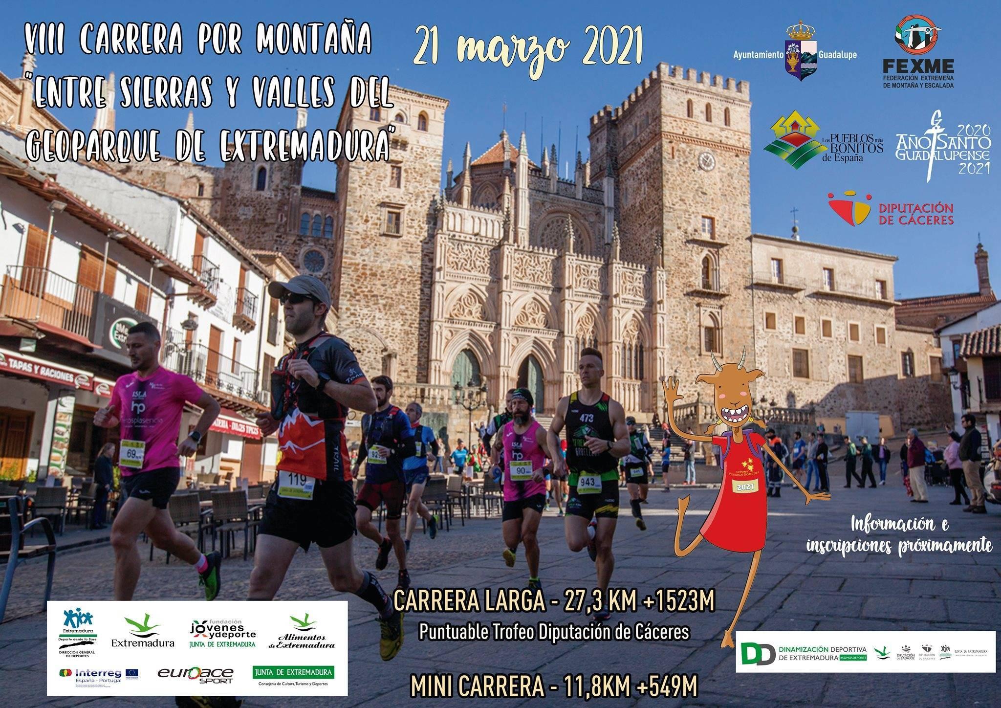 VIII carrera por montaña Entre sierras y valles del Geoparque de Extremadura - Guadalupe (Cáceres)