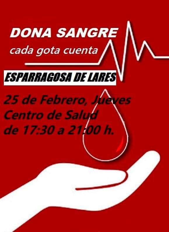 Donación de sangre (febrero 2021) - Esparragosa de Lares (Badajoz)