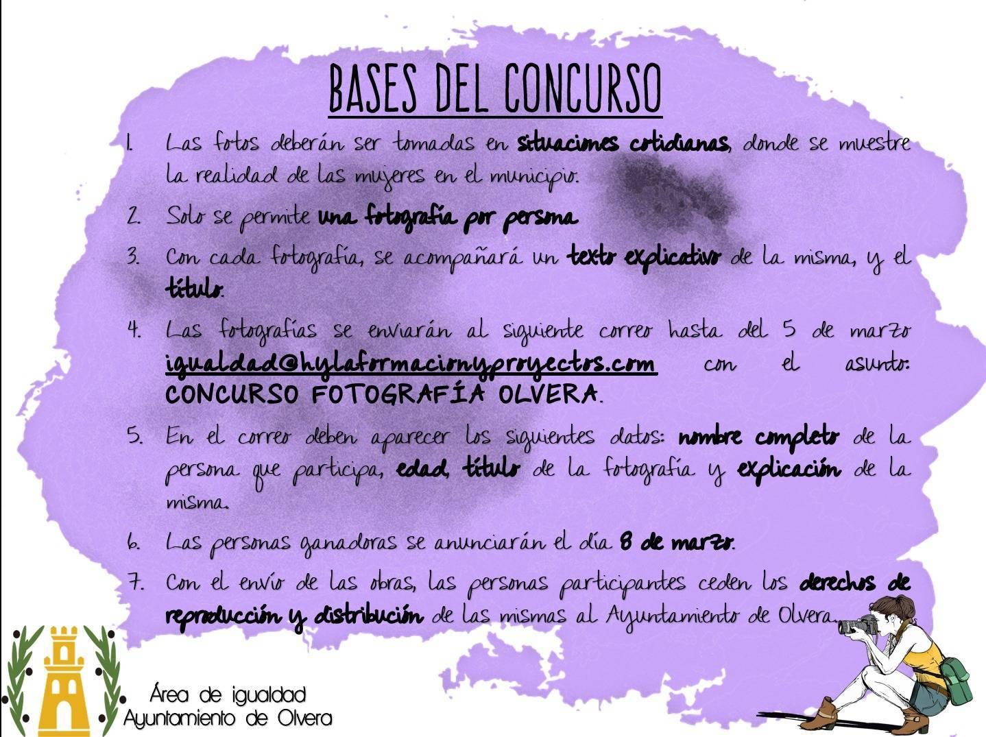 I concurso de fotografía feminista - Olvera (Cádiz) 2