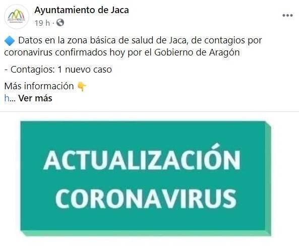 Nuevo caso positivo de COVID-19 (febrero 2021) - Jaca (Huesca)