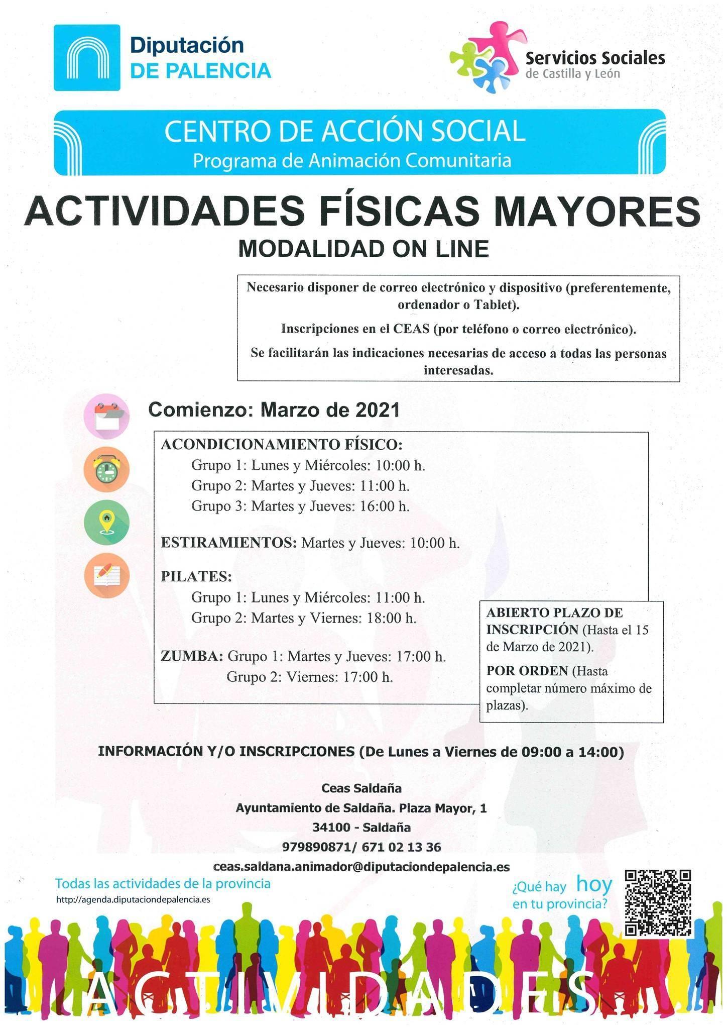 Actividades físicas para mayores (marzo 2021) - Saldaña (Palencia)