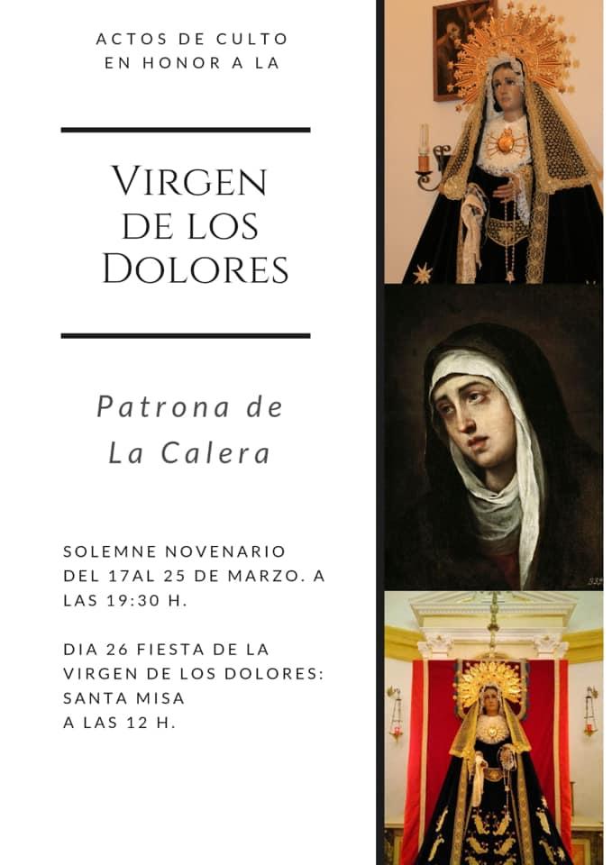 Actos de culto en honor a la Virgen de los Dolores (2021) - La Calera (Cáceres)