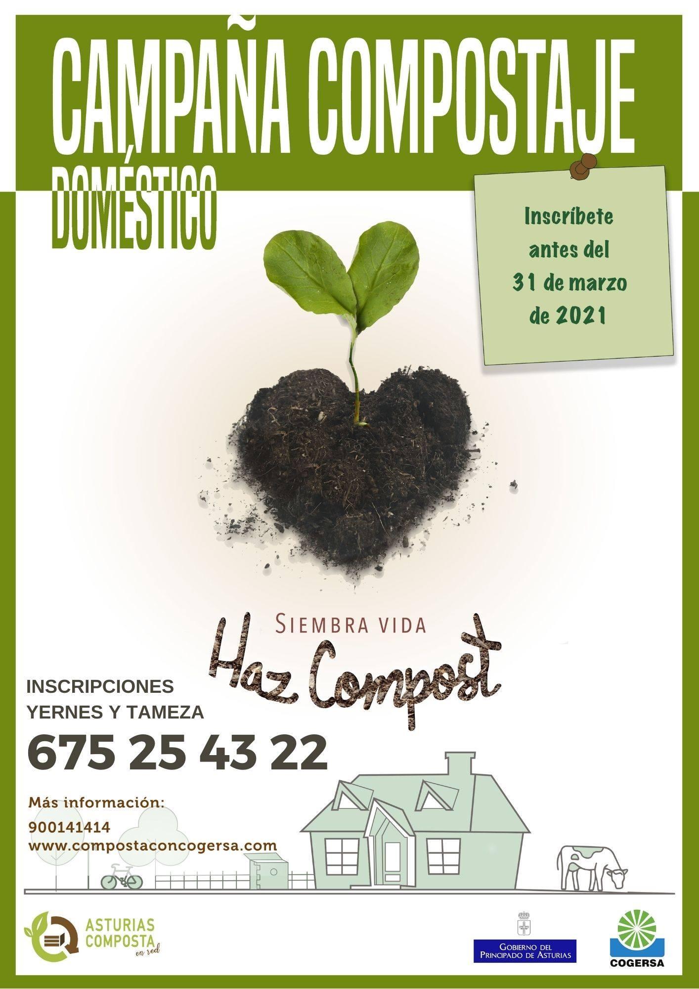 Campaña de compostaje doméstico (2021) - Yernes y Tameza (Asturias)