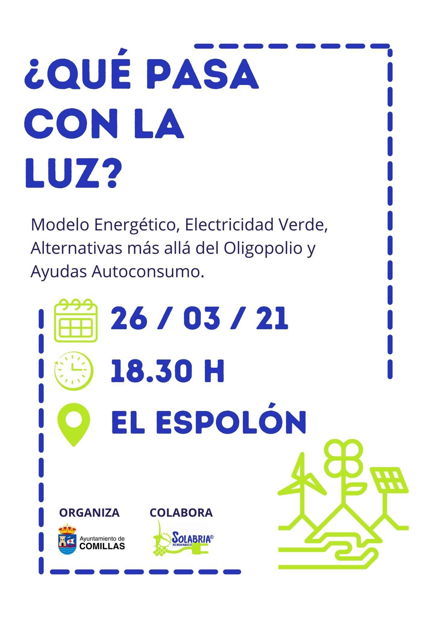 Charla sobre energía y electricidad (marzo 2021) - Comillas (Cantabria)