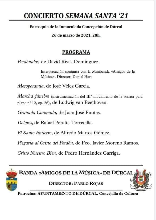 Concierto de Semana Santa (2021) - Dúrcal (Granada) 2