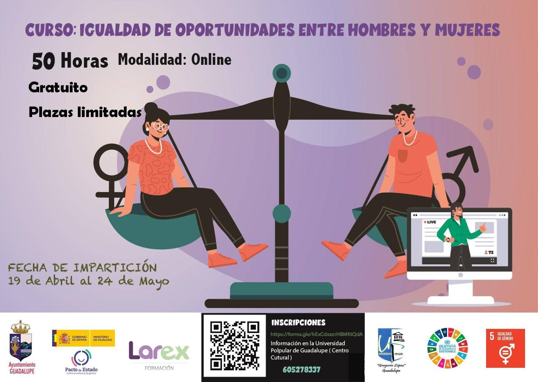 Curso de igualdad de oportunidades entre hombres y mujeres (2021) - Guadalupe (Cáceres)