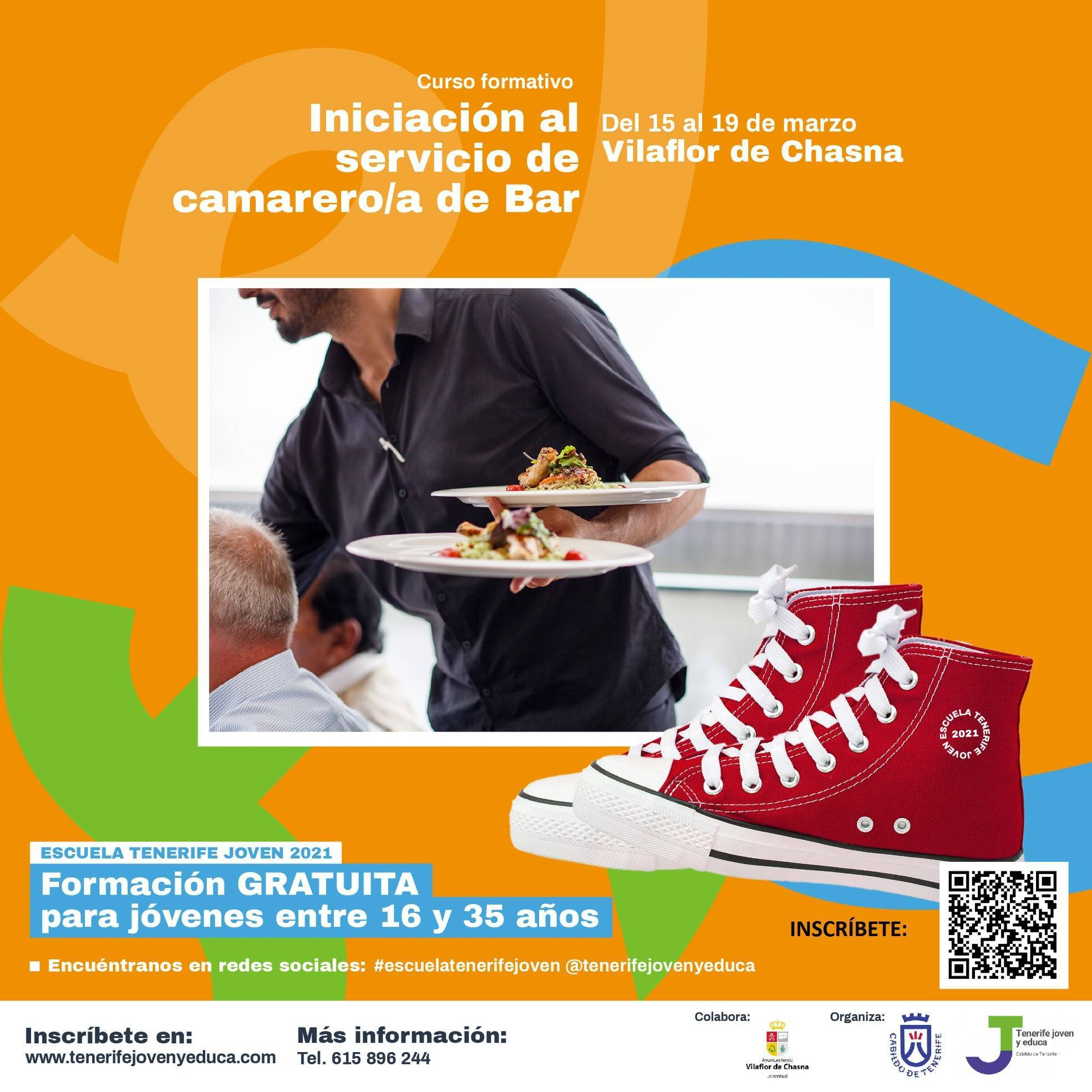 Curso de iniciación al servicio de camarero-a de bar (2021) - Vilaflor de Chasna (Santa Cruz de Tenerife)