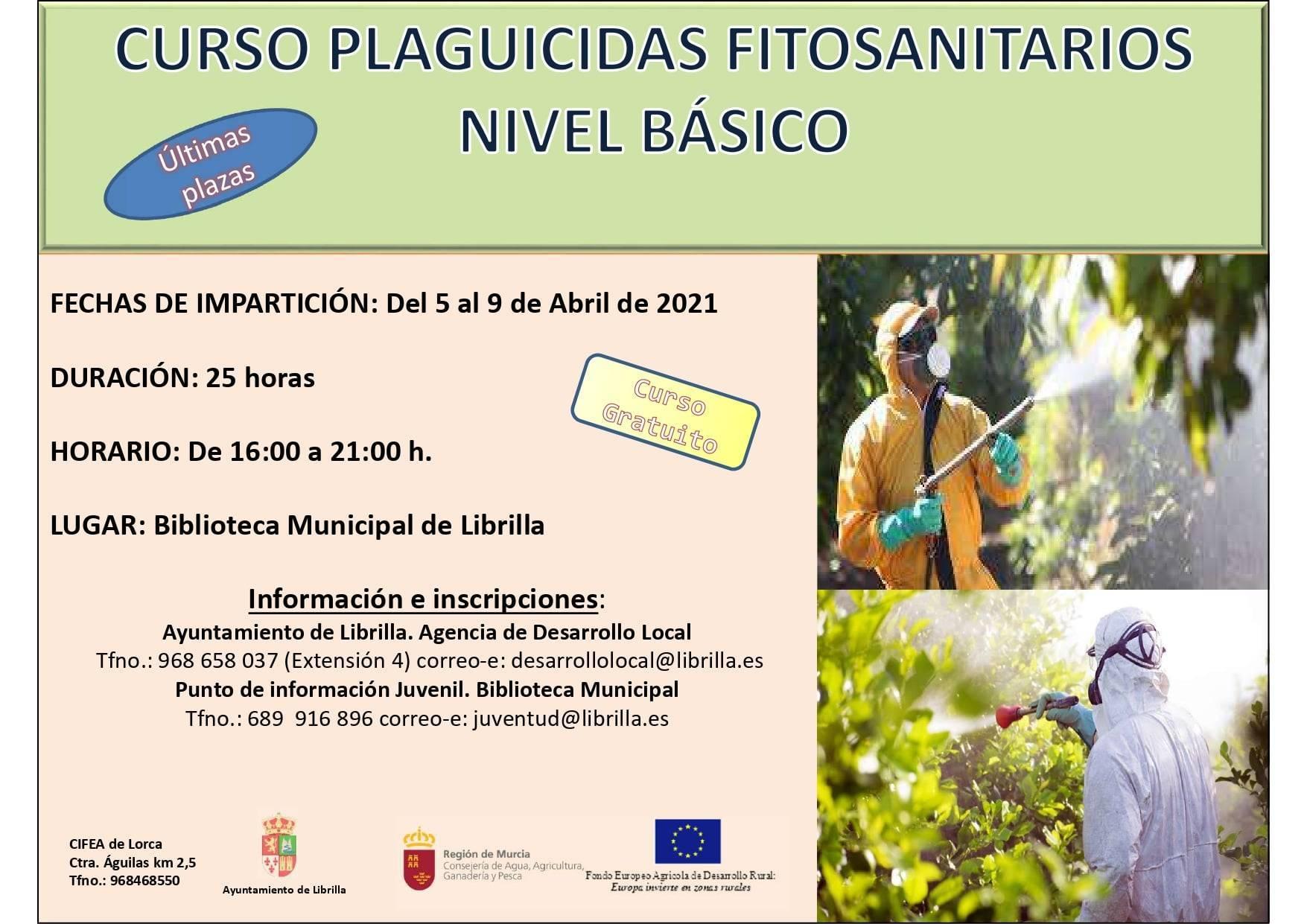 Curso de plaguicidas fitosanitarios de nivel básico (2021) - Librilla (Murcia)