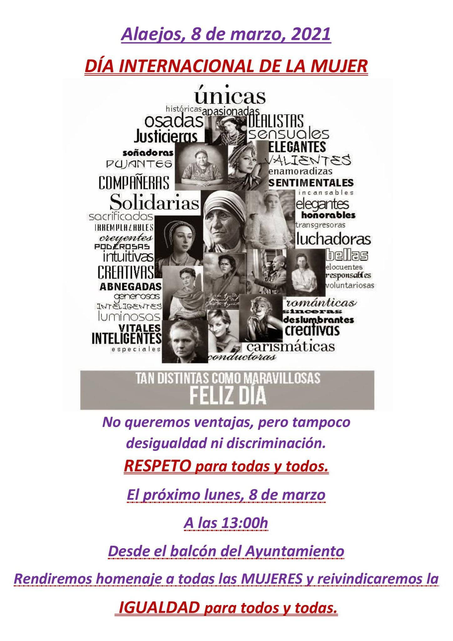 Día Internacional de la Mujer (2021) - Alaejos (Valladolid)