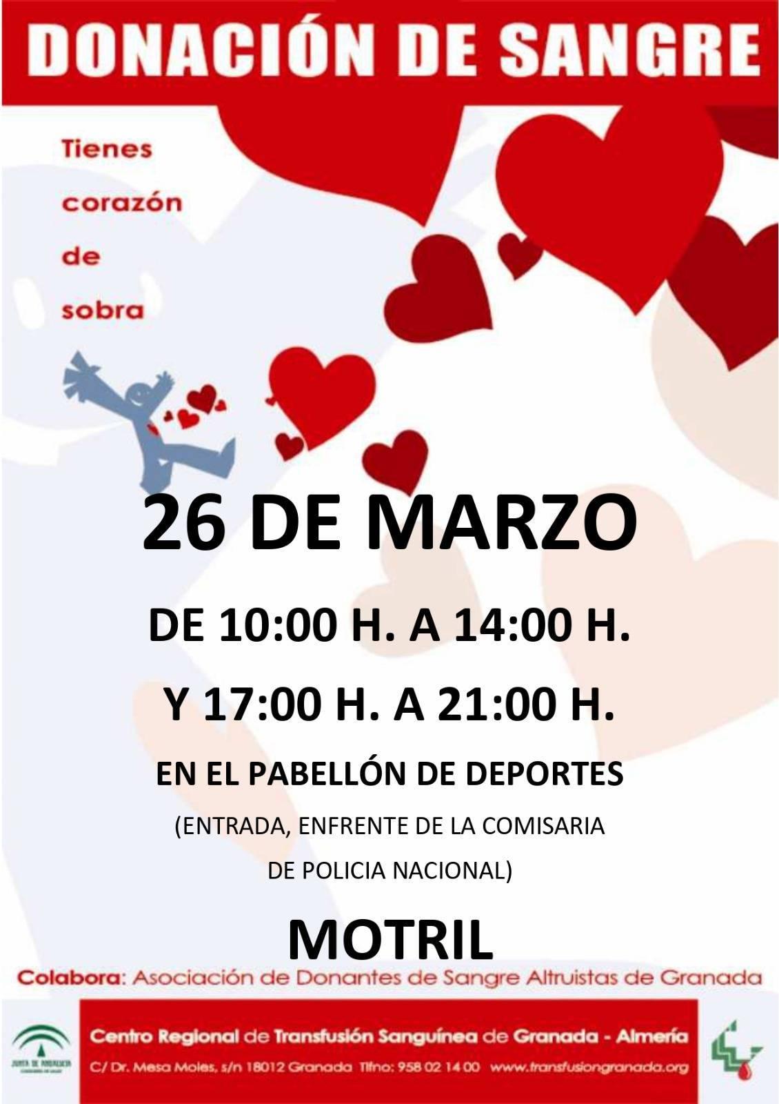 Donación de sangre (marzo 2021) - Motril (Granada)