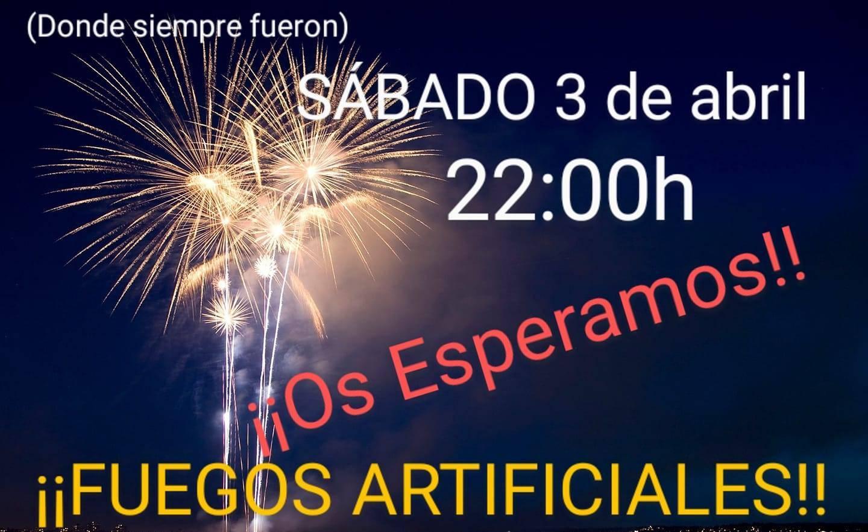 Fuegos artificiales (abril 2021) - Cañamero (Cáceres)