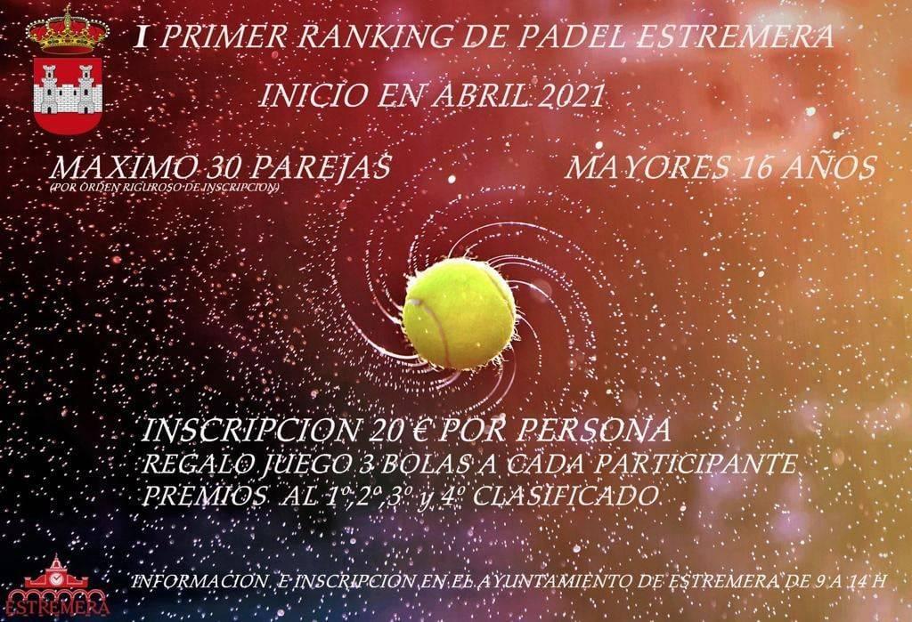 I ranking de pádel - Estremera (Madrid)
