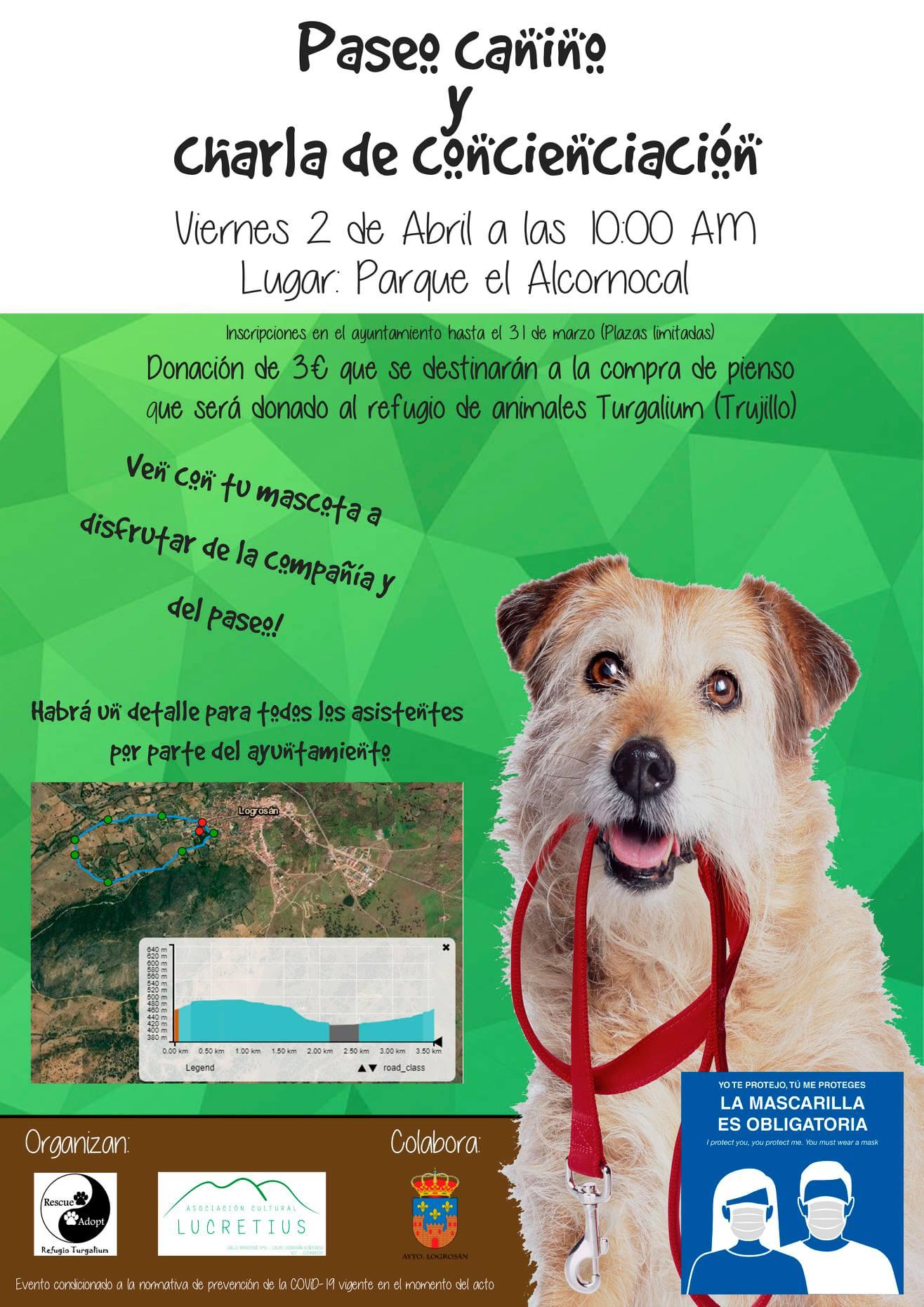 Paseo canino y charla de concienciación (2021) - Logrosán (Cáceres)