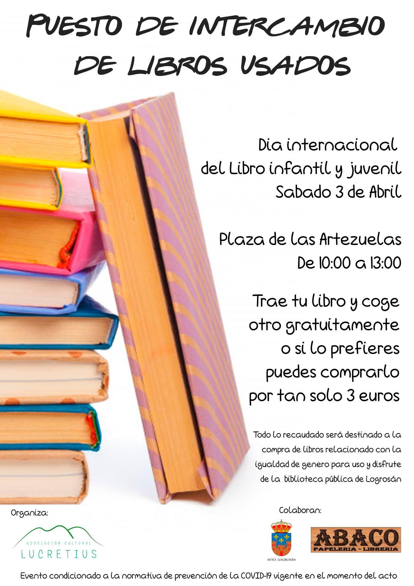 Puesto de intercambio de libros usados (2021) - Logrosán (Cáceres)