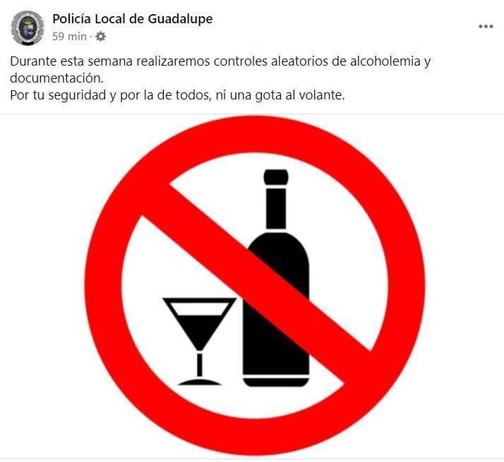 Realización de controles aleatorios (marzo 2021) - Guadalupe (Cáceres)