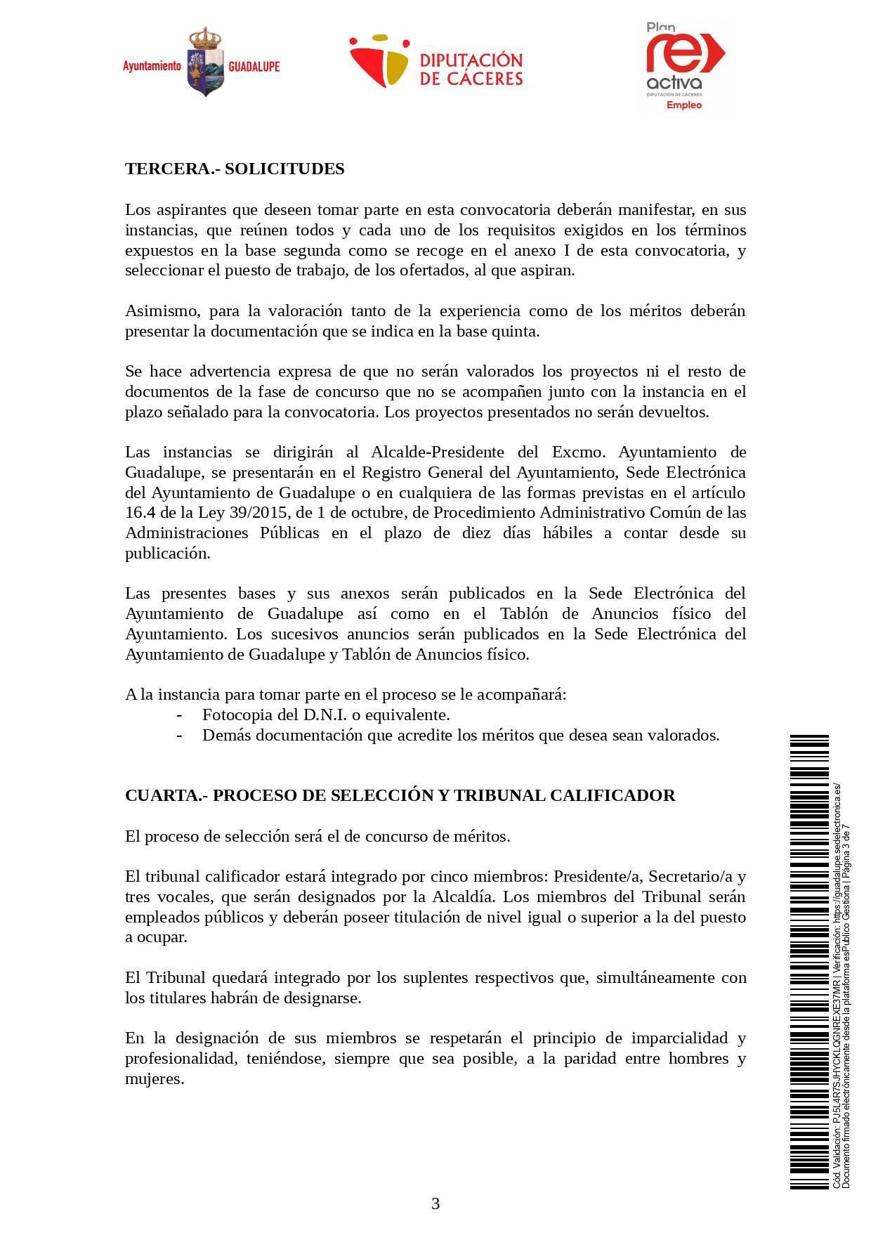 Un operario-a de servicios múltiples y dos operarios-as de limpieza (2021) - Guadalupe (Cáceres) 3