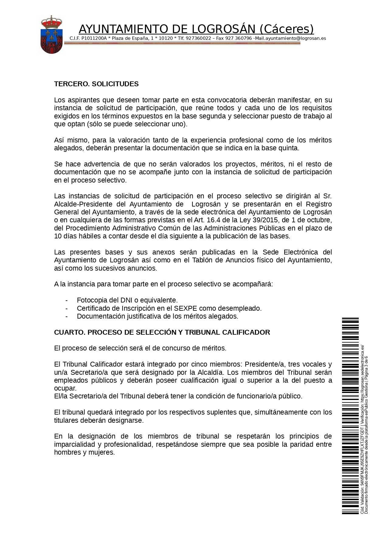 Bases para 8 puestos de trabajo (2021) - Logrosán (Cáceres) 3
