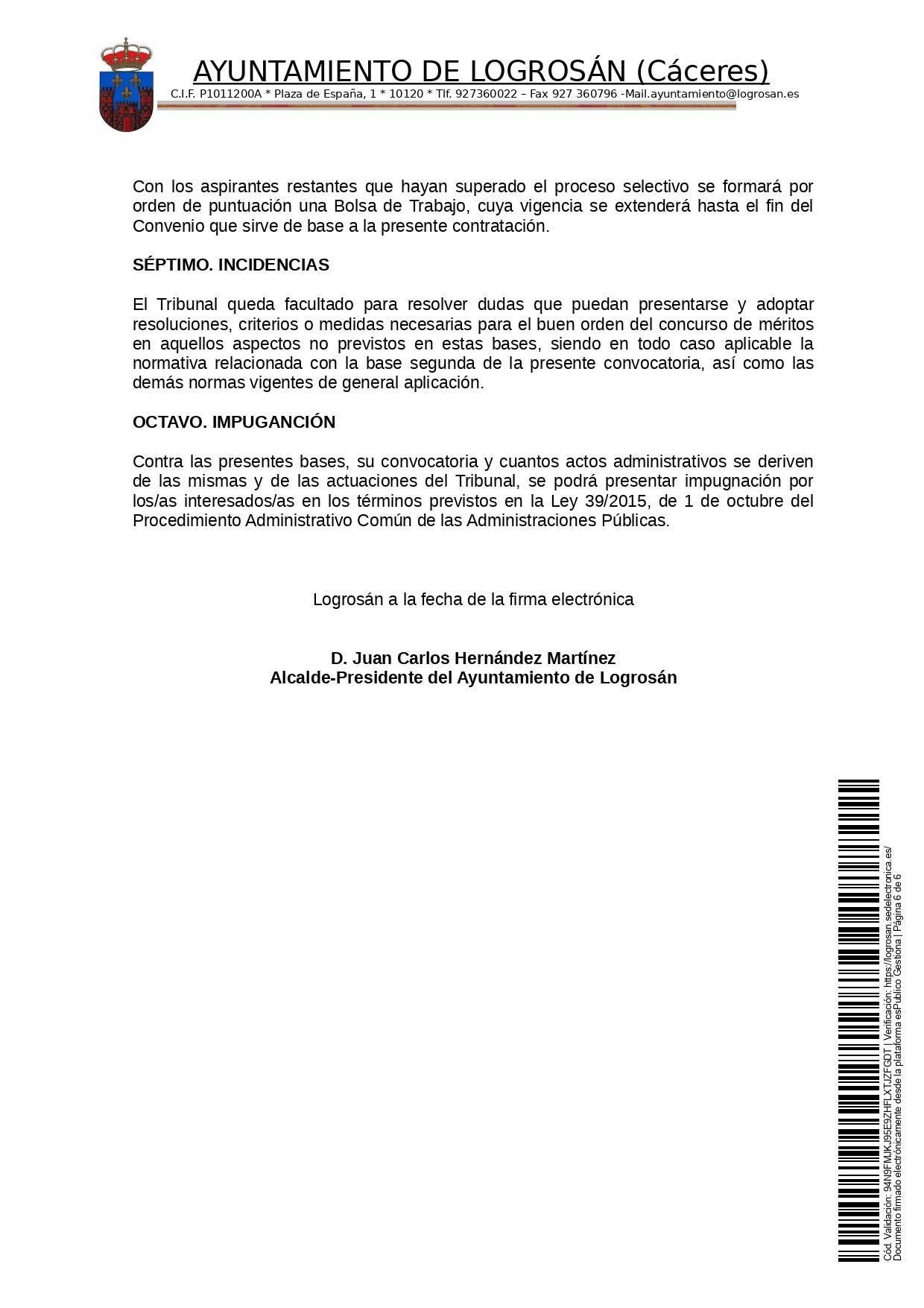 Bases para 8 puestos de trabajo (2021) - Logrosán (Cáceres) 6