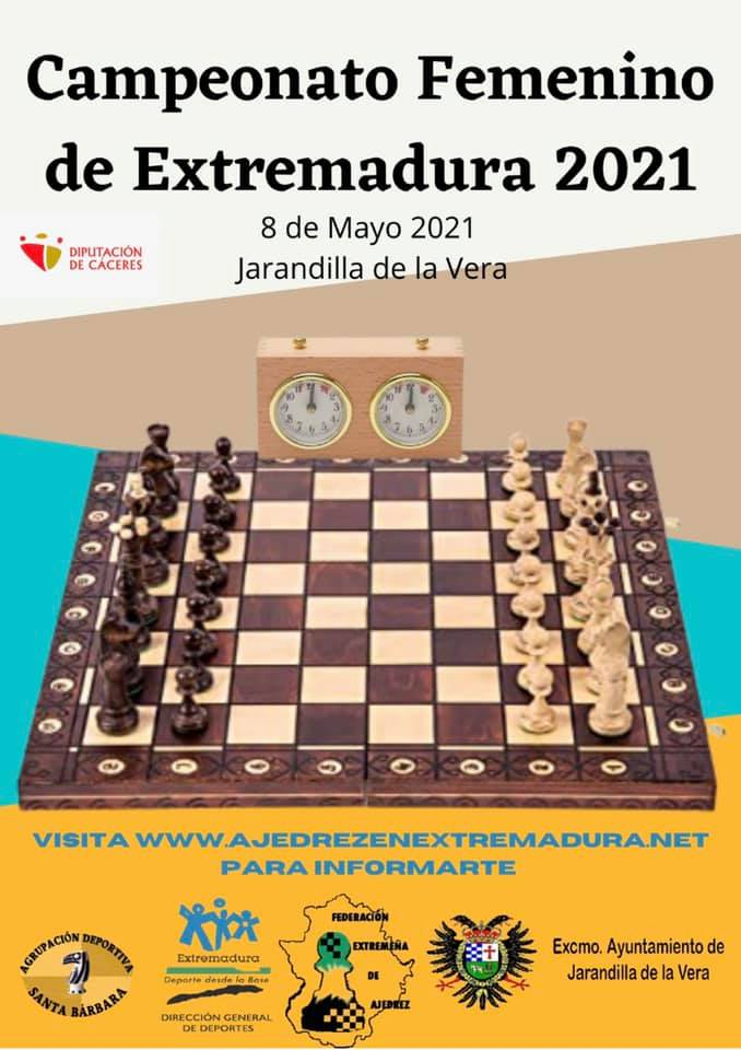 Campeonato femenino de Extremadura de ajedrez (2021) - Jarandilla de la Vera (Cáceres)
