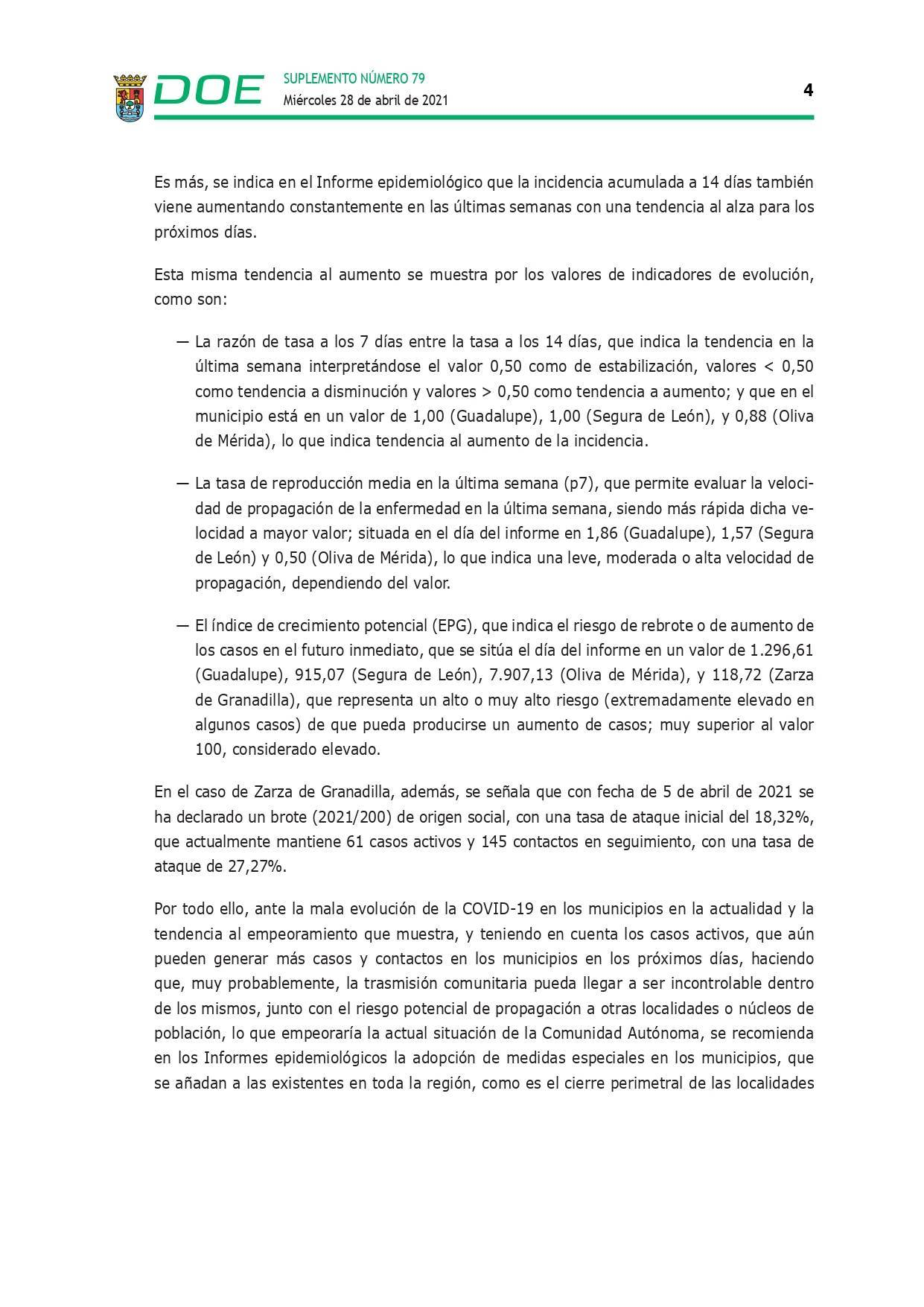 Cierre perimetral por COVID-19 (abril 2021) - Guadalupe (Cáceres) 4