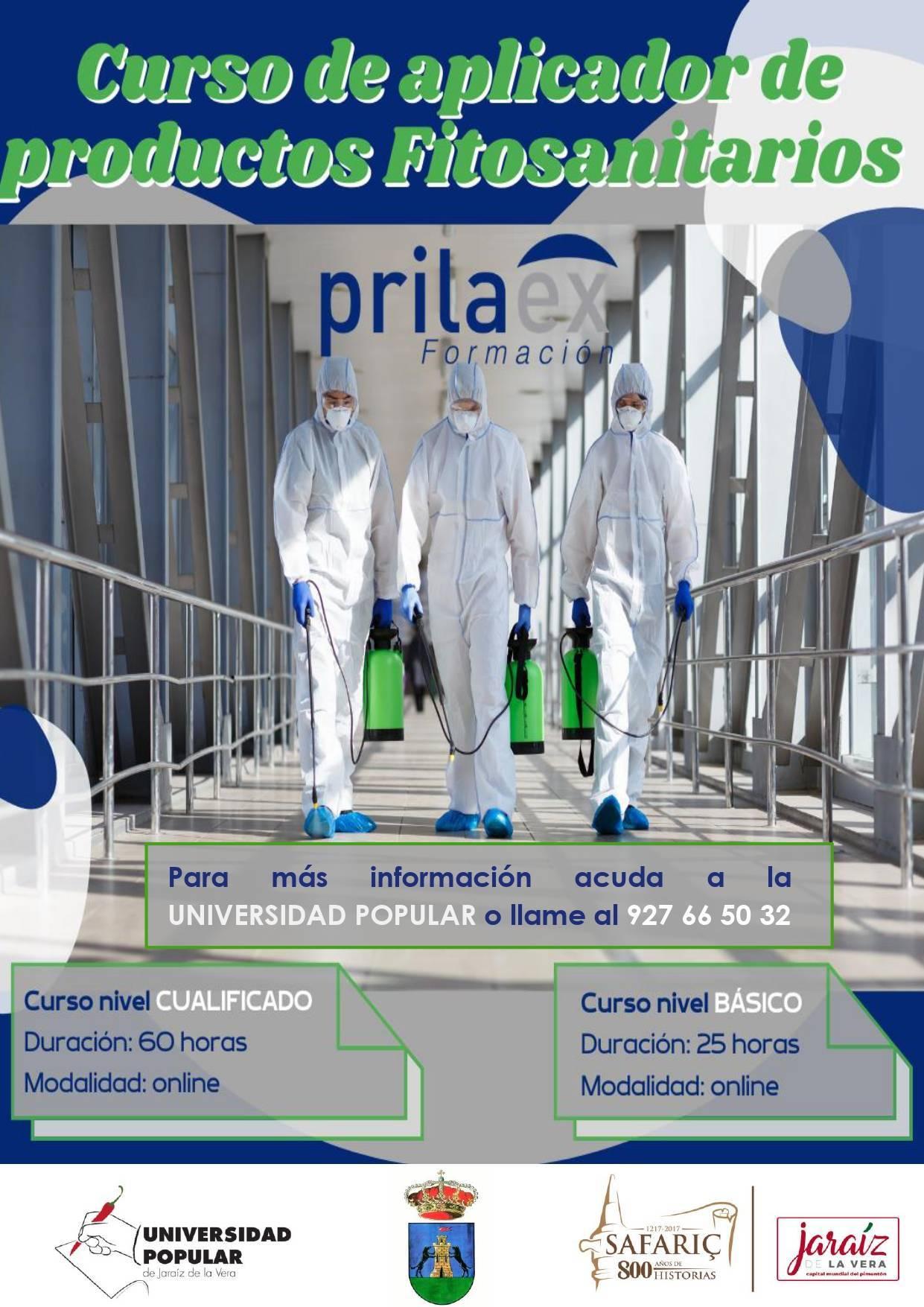 Curso de aplicador de productos fitosanitarios (2021) - Jaraíz de la Vera (Cáceres)