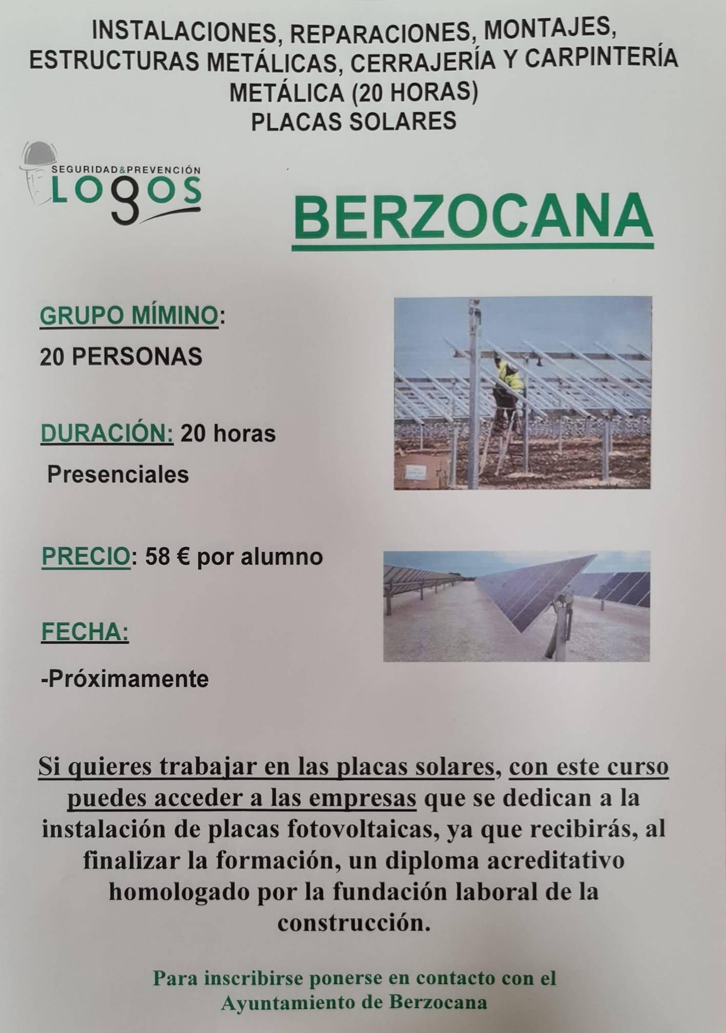 Curso de placas fotovoltaicas (2021) - Berzocana (Cáceres)