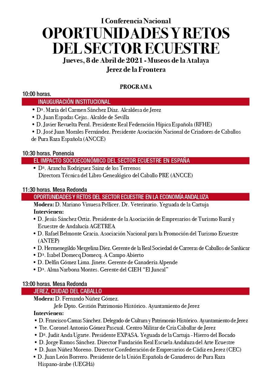 I conferencia nacional de oportunidades y retos del sector ecuestre - Jerez de la Frontera (Cádiz) 2