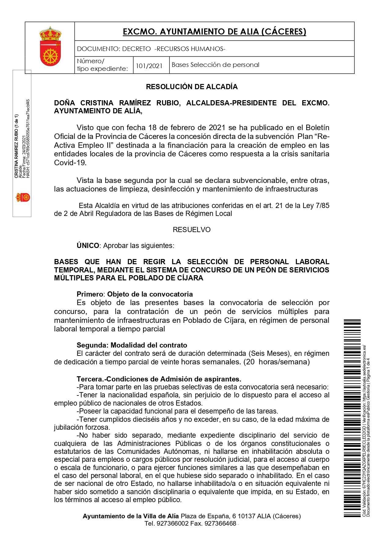 Peón de servicios múltiples (2021) - Poblado de Cíjara (Cáceres) 1