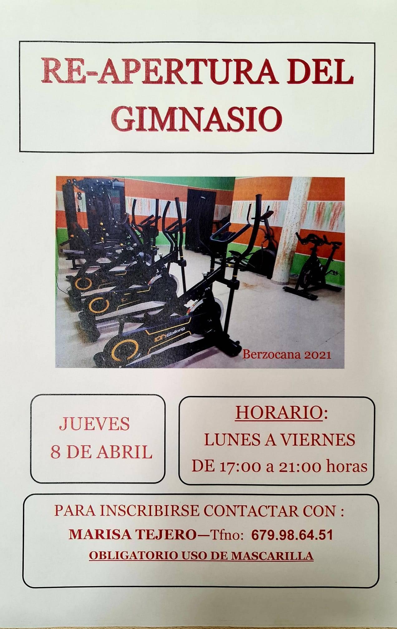 Reapertura del gimnasio (abril 2021) - Berzocana (Cáceres)