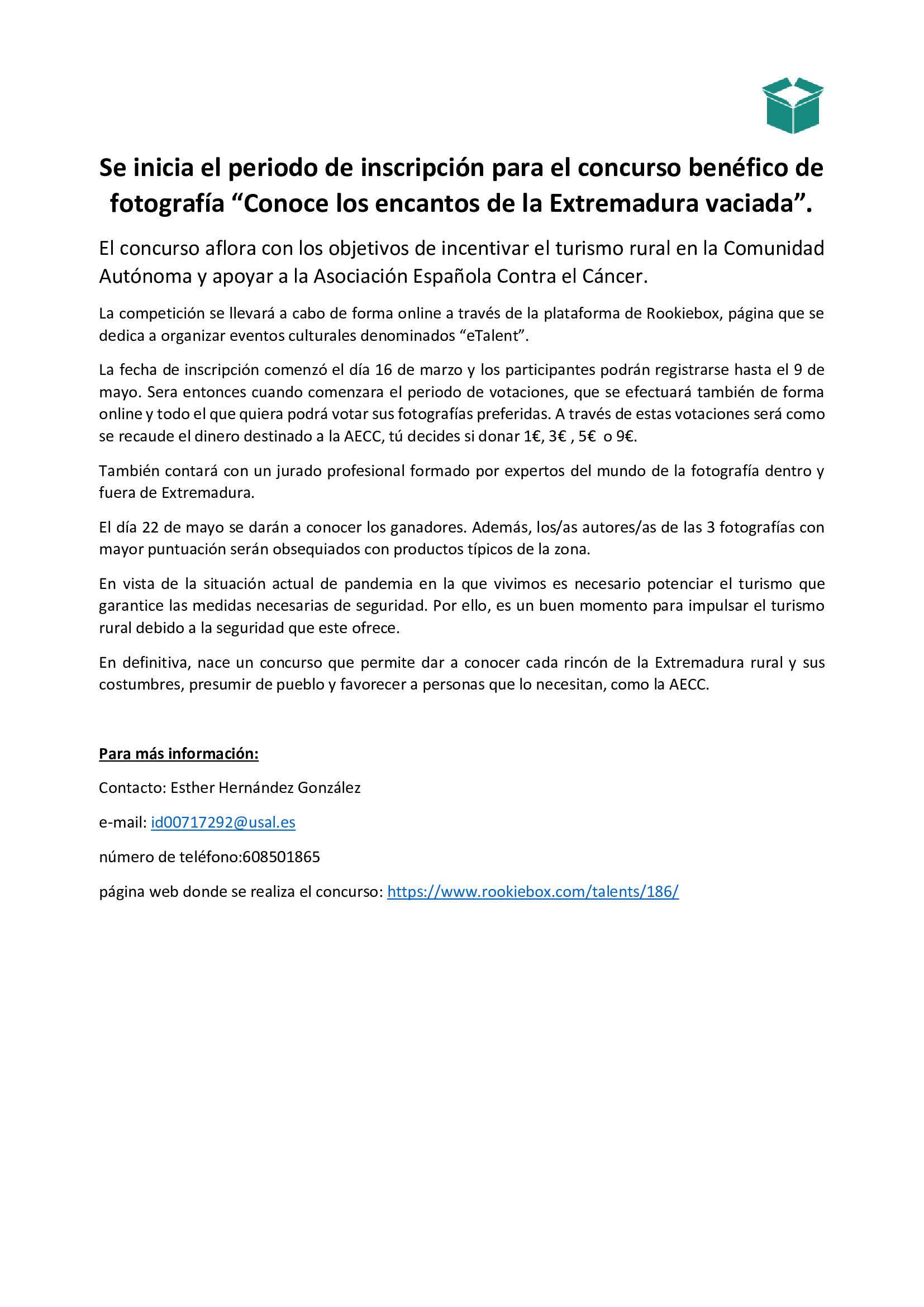 Se inicia el periodo de inscripción para el concurso benéfico de fotografía Conoce los encantos de la Extremadura vaciada (2021) 2