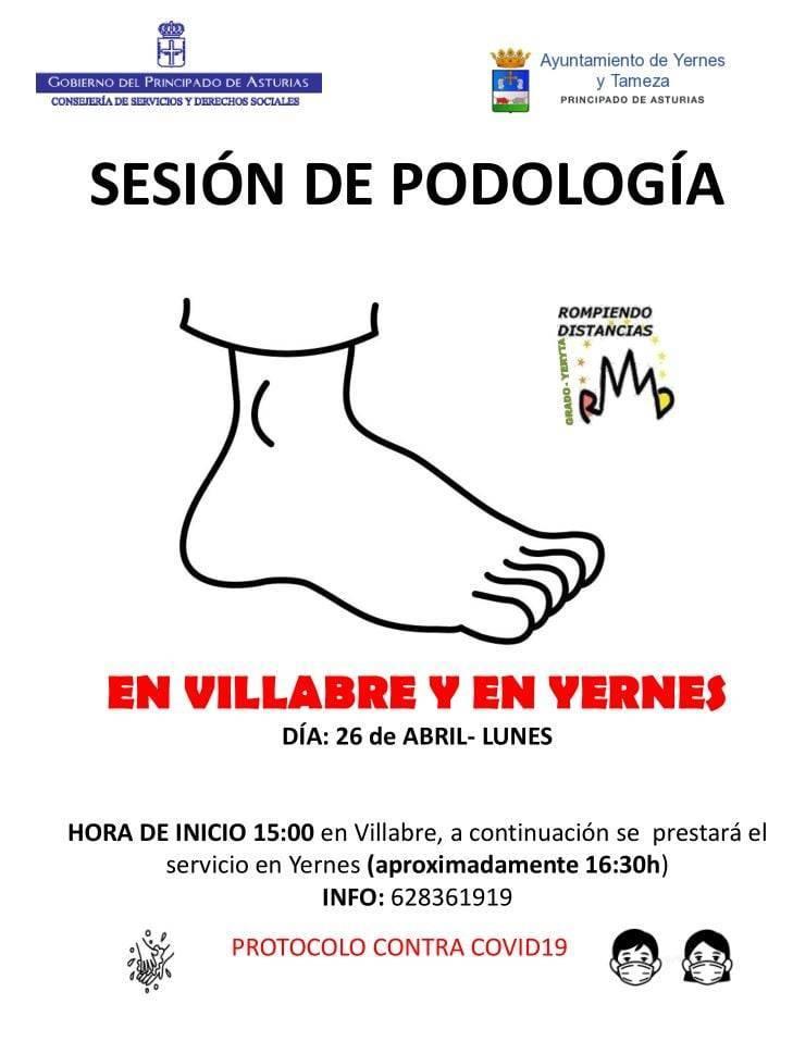 Sesión de podología (abril 2021) - Yernes y Tameza (Asturias)