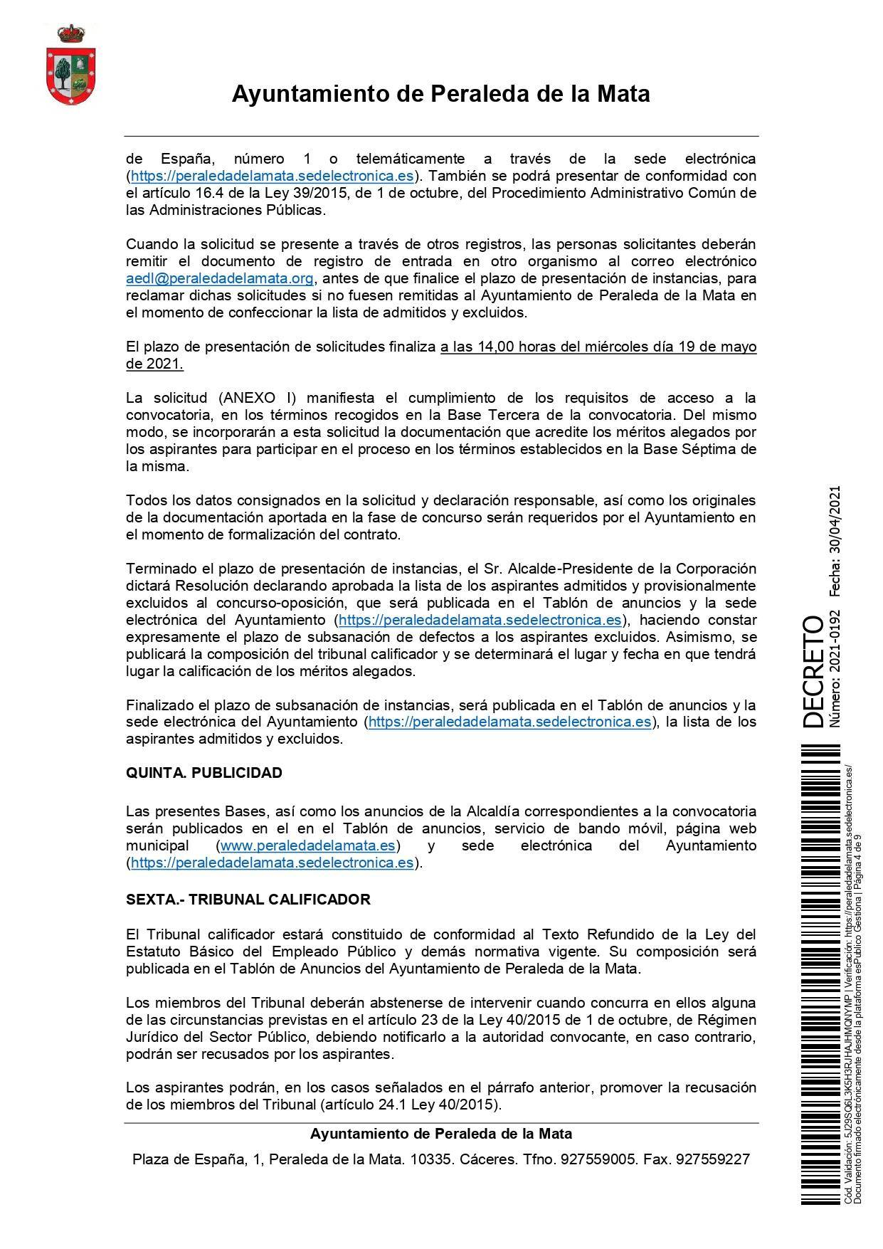 2 socorristas para la piscina municipal (2021) - Peraleda de la Mata (Cáceres) 4