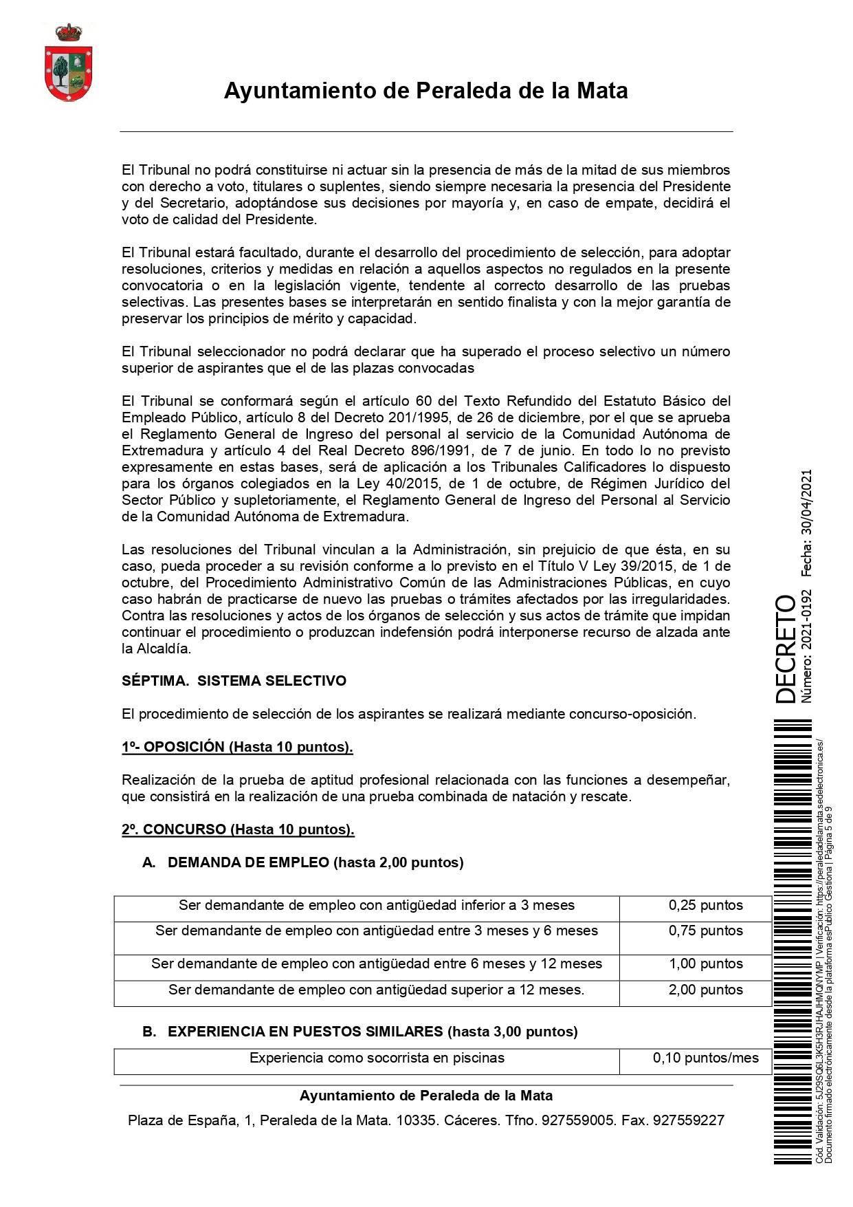 2 socorristas para la piscina municipal (2021) - Peraleda de la Mata (Cáceres) 5