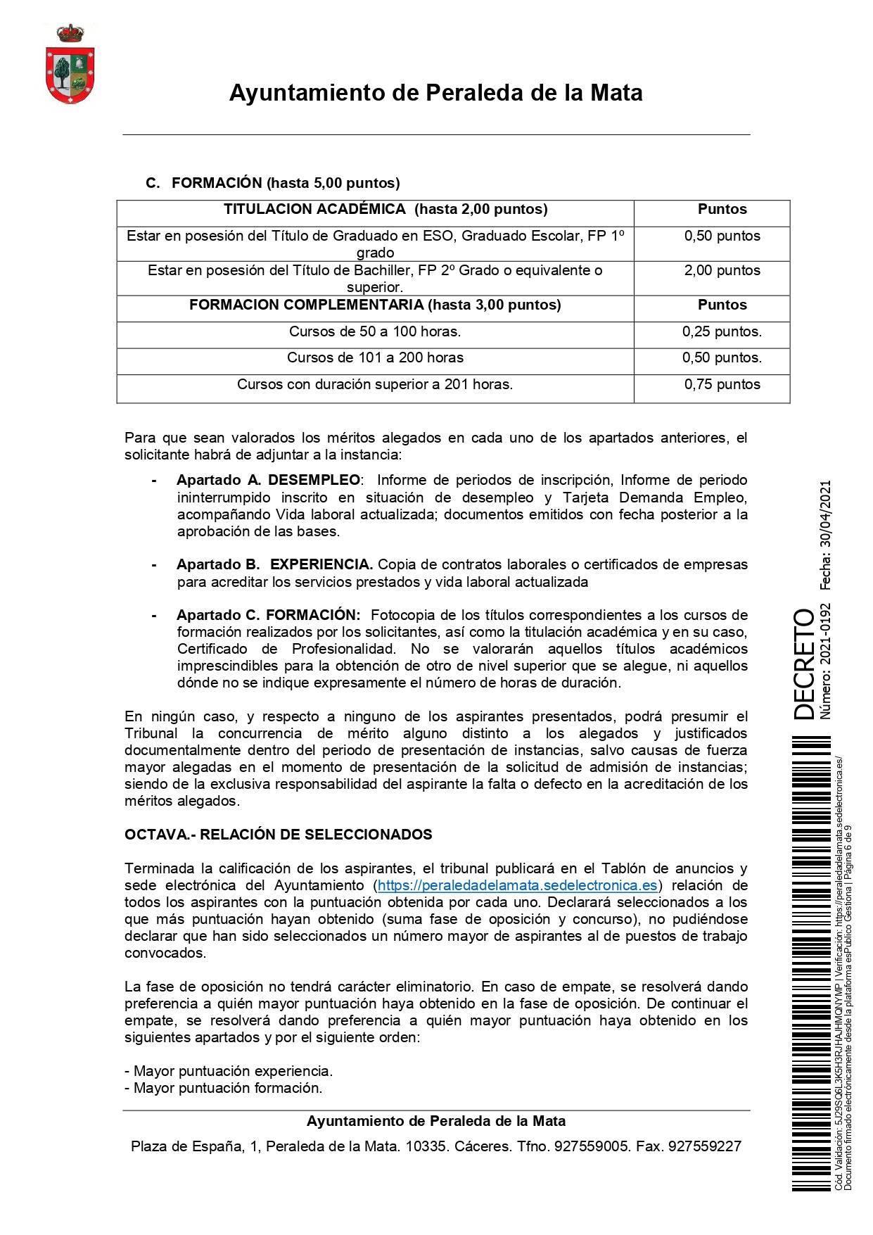 2 socorristas para la piscina municipal (2021) - Peraleda de la Mata (Cáceres) 6