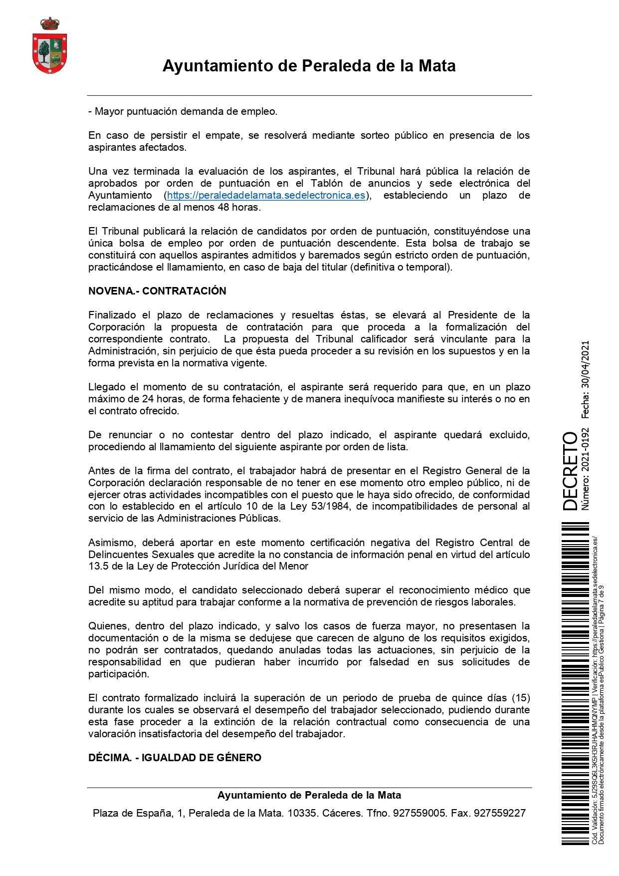2 socorristas para la piscina municipal (2021) - Peraleda de la Mata (Cáceres) 7