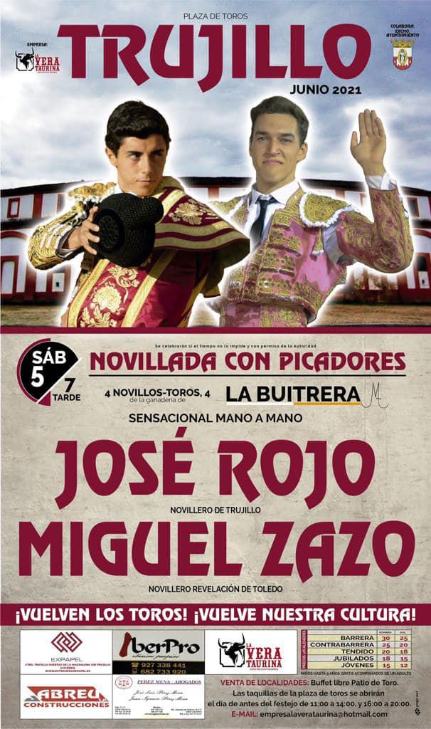 Novillada con picadores (junio 2021) - Trujillo (Cáceres)