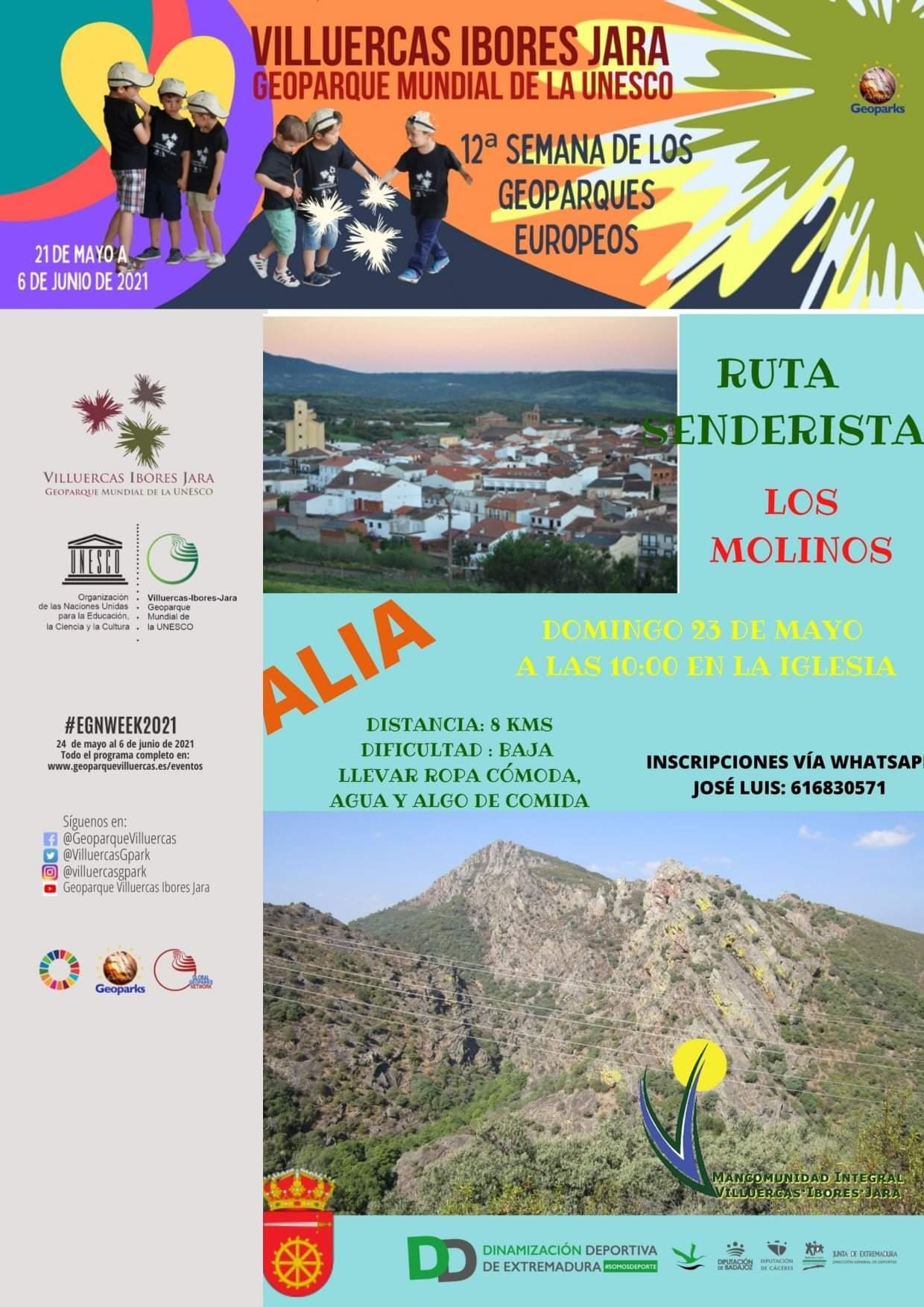 Ruta senderista Los molinos (2021) - Alía (Cáceres)