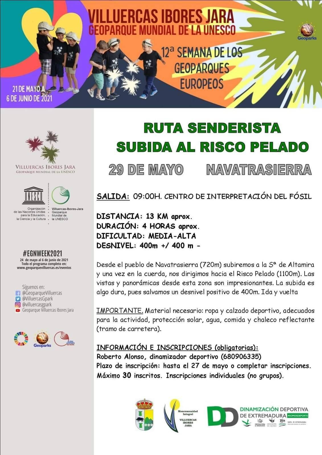 Ruta senderista Subida al risco Pelado (2021) - Navatrasierra (Cáceres)