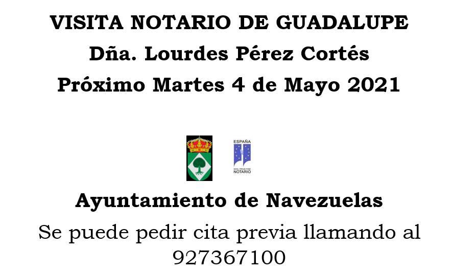 Visita del notario (mayo 2021) - Navezuelas (Cáceres)