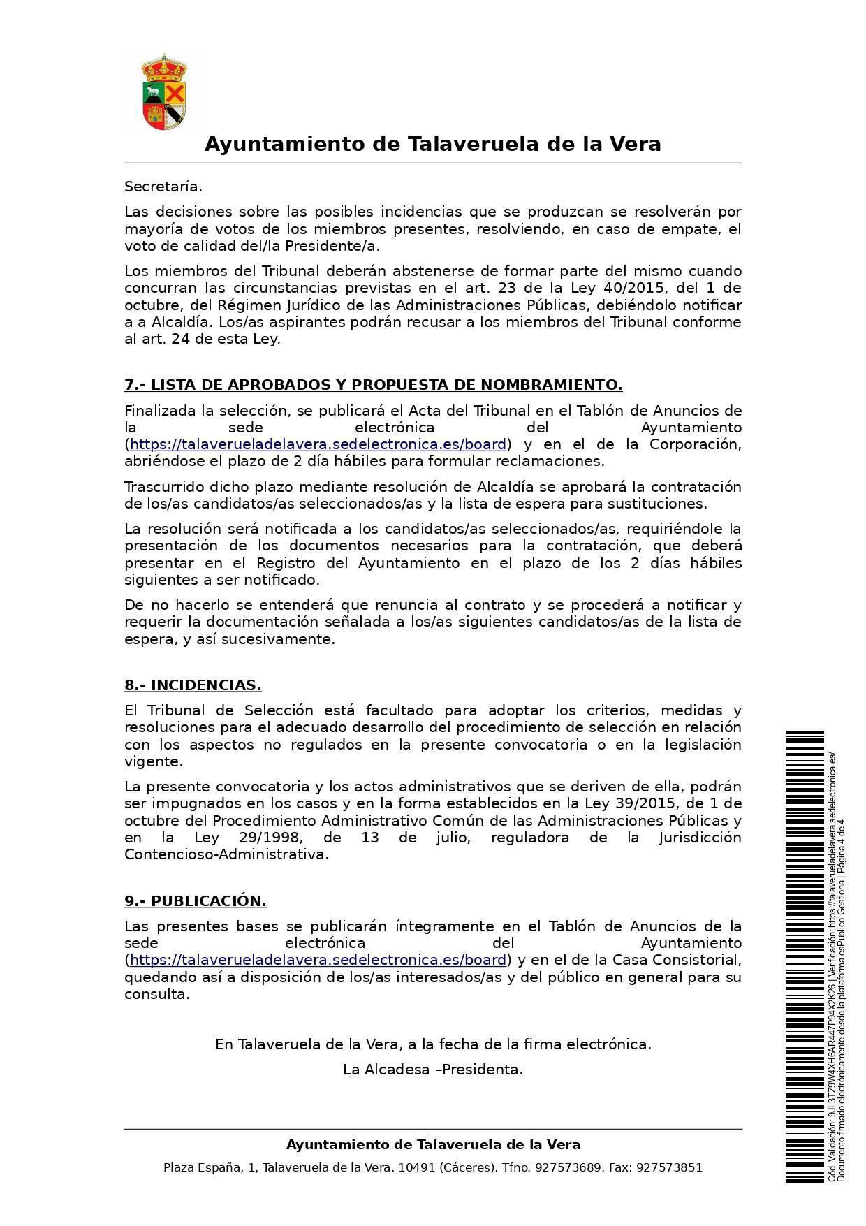 2 taquilleros-as para la piscina municipal (2021) - Talaveruela de la Vera (Cáceres) 4