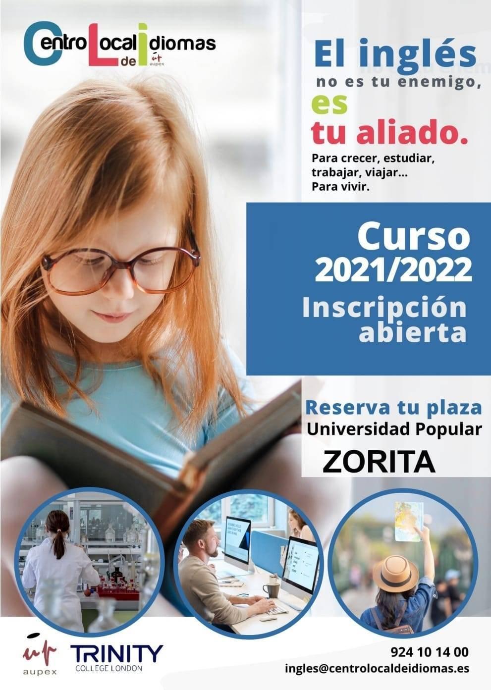 Abierto el plazo de matriculación en inglés (2021) - Zorita (Cáceres)