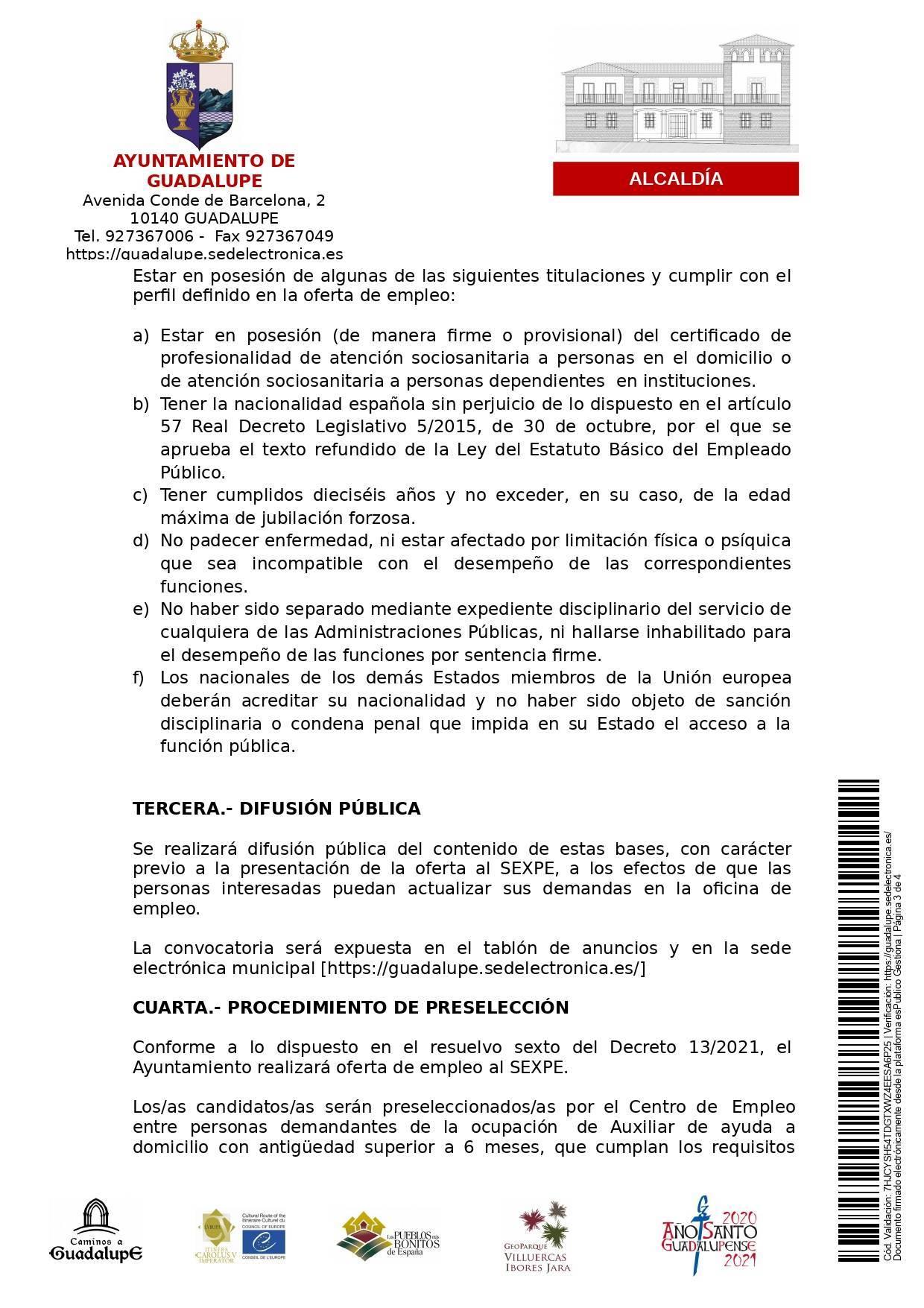 Auxiliar de ayuda a domicilio (2021) - Guadalupe (Cáceres) 3