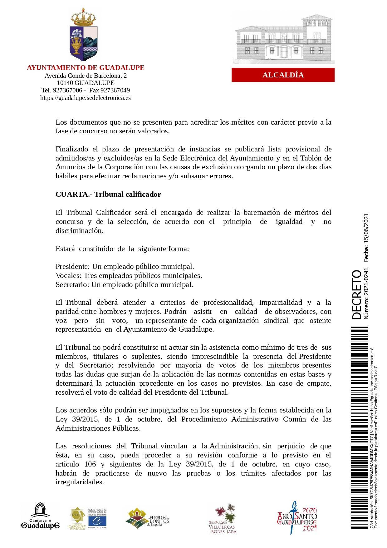 Bolsa de conductores-operarios de recogida de RSU (2021) - Guadalupe (Cáceres) 3