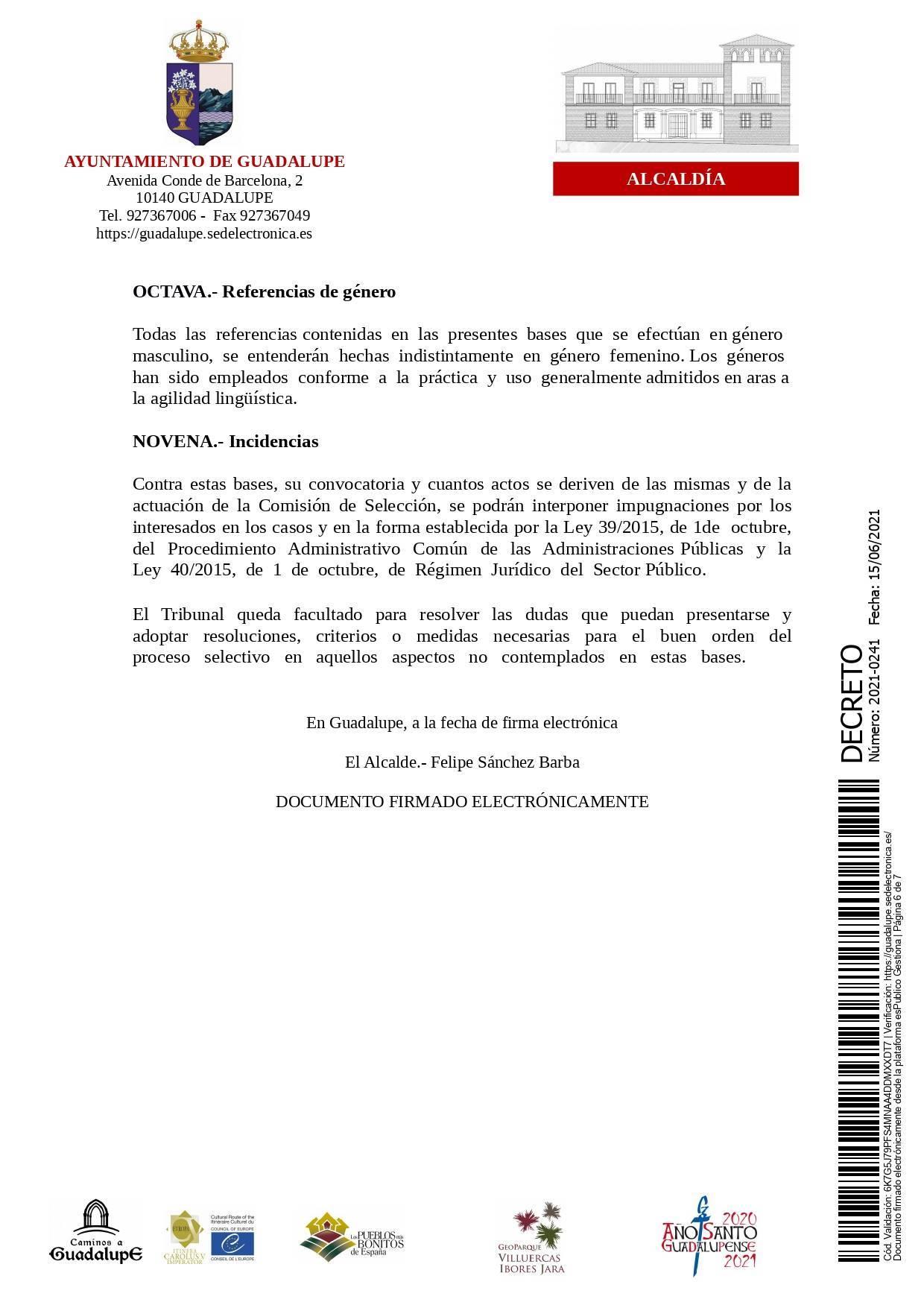 Bolsa de conductores-operarios de recogida de RSU (2021) - Guadalupe (Cáceres) 6
