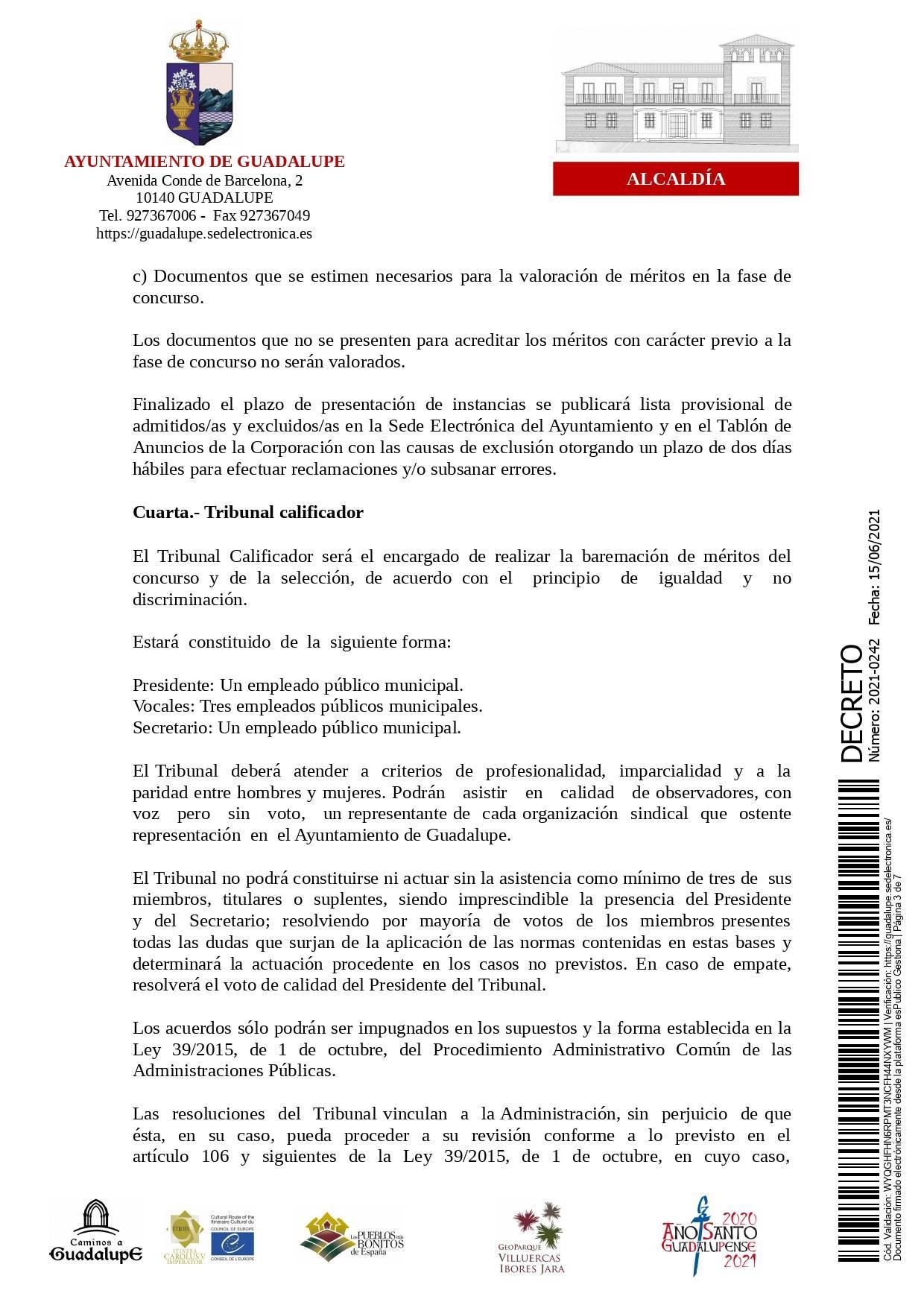 Bolsa de operarios de servicios múltiples para eventos (2021) - Guadalupe (Cáceres) 3