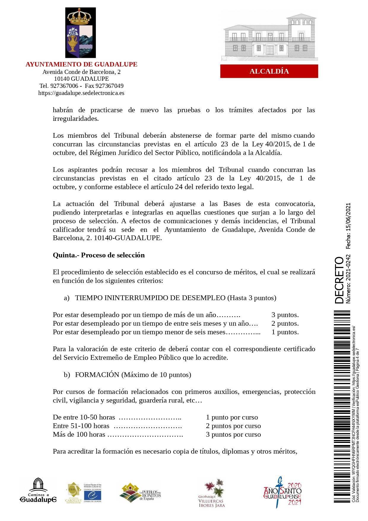 Bolsa de operarios de servicios múltiples para eventos (2021) - Guadalupe (Cáceres) 4