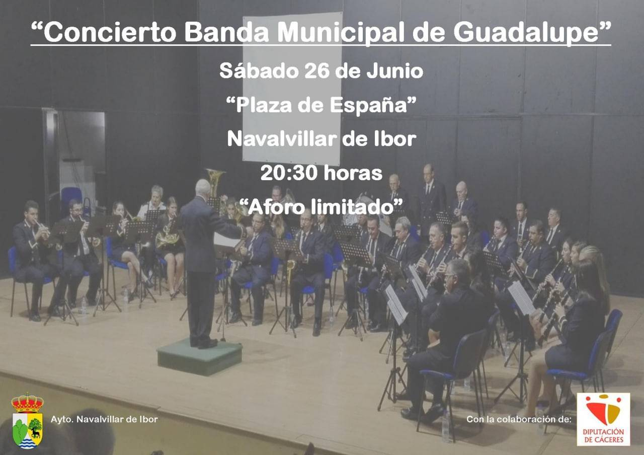 Concierto de la banda de música de Guadalupe (2021) - Navalvillar de Ibor (Cáceres)