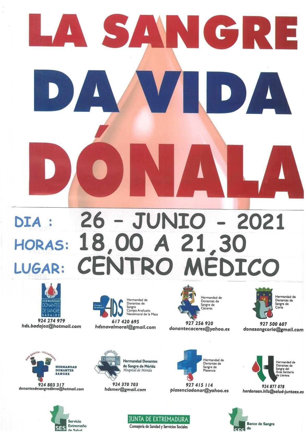 Donación de sangre (junio 2021) - Castañar de Ibor (Cáceres)