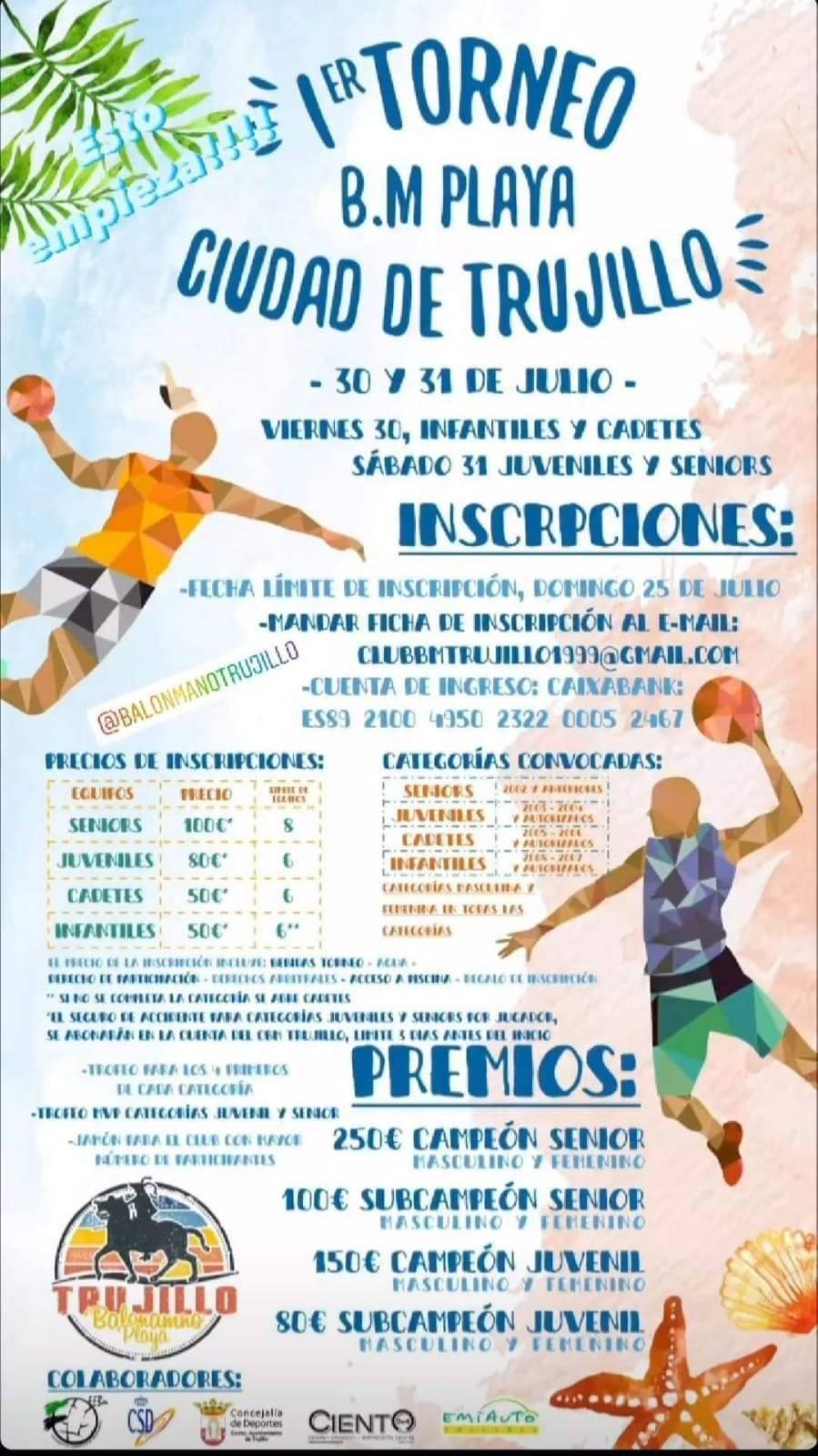 I torneo de balonmano playa Ciudad de Trujillo - Trujillo (Cáceres)